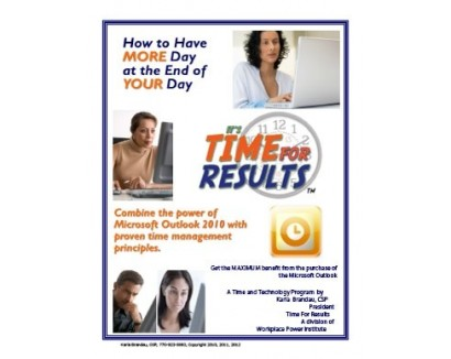 TIME MANAGEMENT AND TECHNOLOGY – OUTLOOK 2010 VISUAL GUIDE