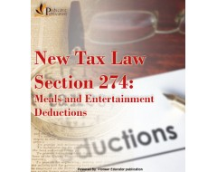 New Tax Law Section 274: Meals and Entertainment Deductions